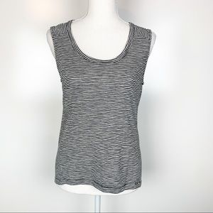Athleta | Black White Striped Tank Top Size XS